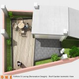 Roof Garden Isometric View